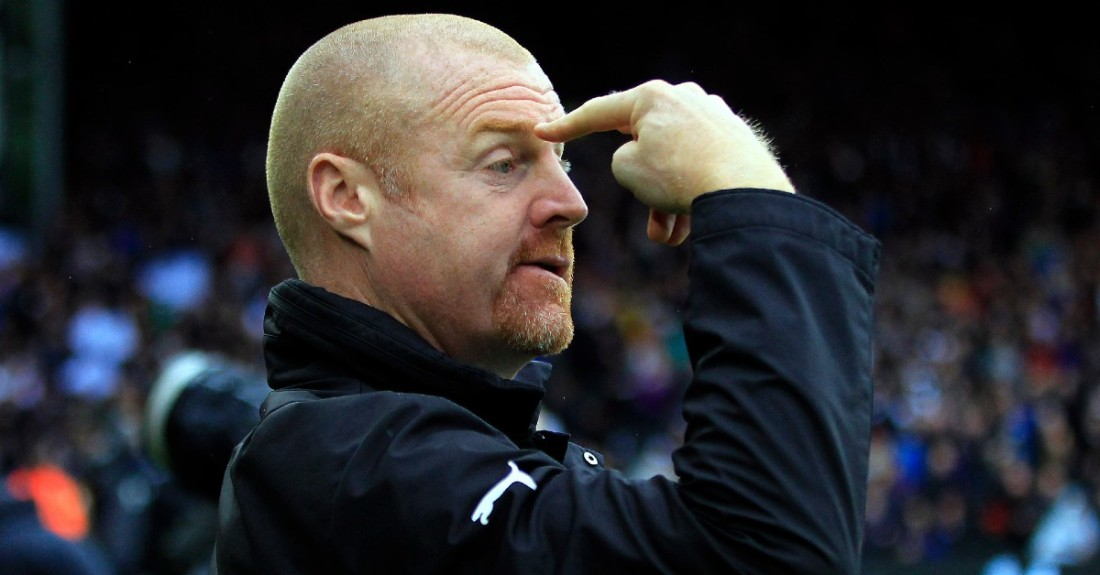 Sean Dyche pointing to head